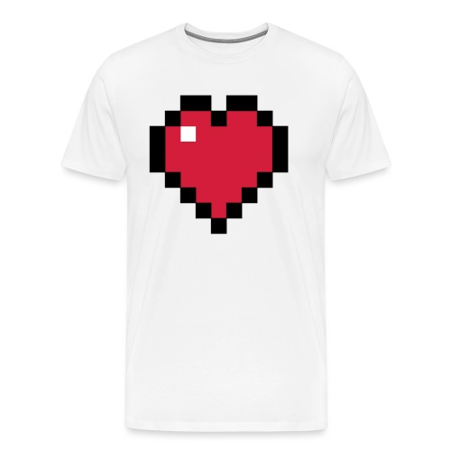 Pixelart Heart - Men's Premium T-Shirt