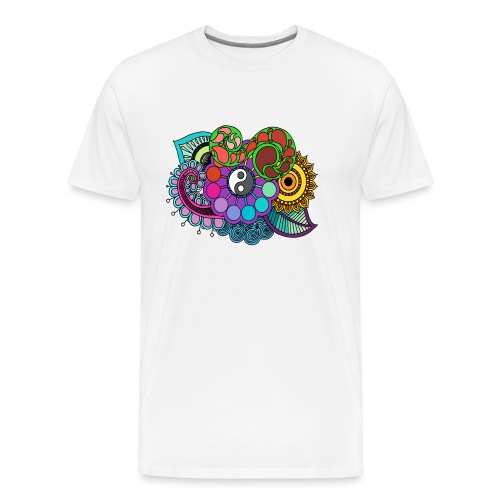 Coloured Nature Mandala - Men's Premium T-Shirt