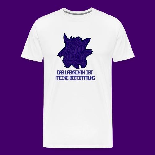 MAZE WITH TXT png - Männer Premium T-Shirt