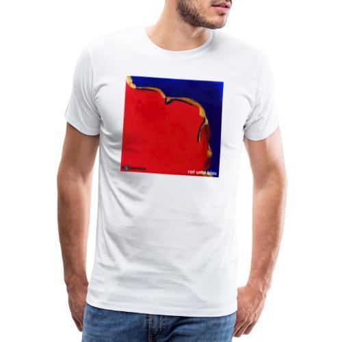 TIAN GREEN Mosaik DE023 - Rot und Blau - Männer Premium T-Shirt