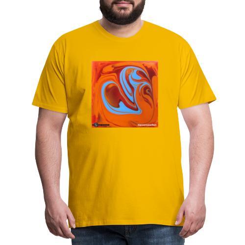 TIAN GREEN Mosaik DK005 - Herzenswelten - Männer Premium T-Shirt