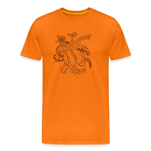 Fantasy sort scribblesirii - Herre premium T-shirt