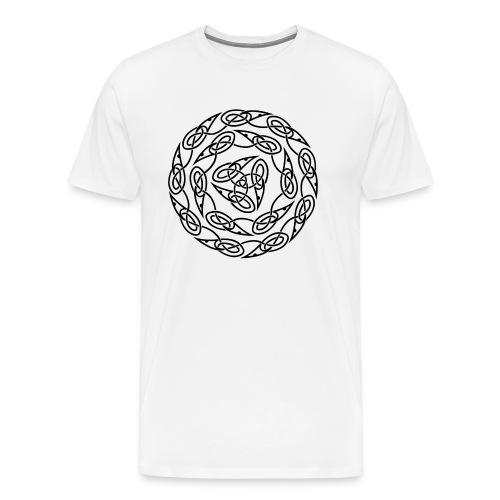 Triquetra circles - Men's Premium T-Shirt