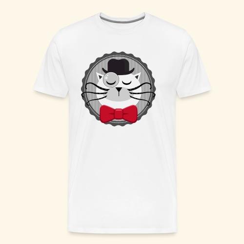 Chat vintage sherlock - T-shirt Premium Homme