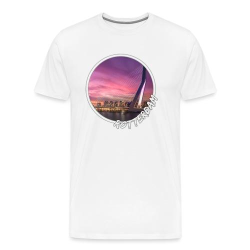Rotterdam Erasmusbrug Skyline-circle - Mannen Premium T-shirt