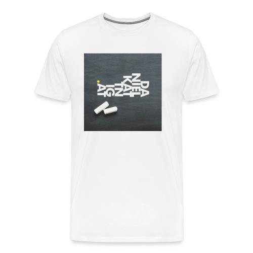 logo mit bg quadrat - Männer Premium T-Shirt