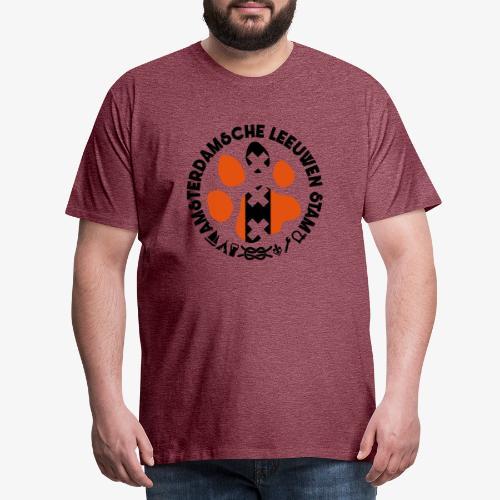 ALS witte rand licht - Mannen Premium T-shirt