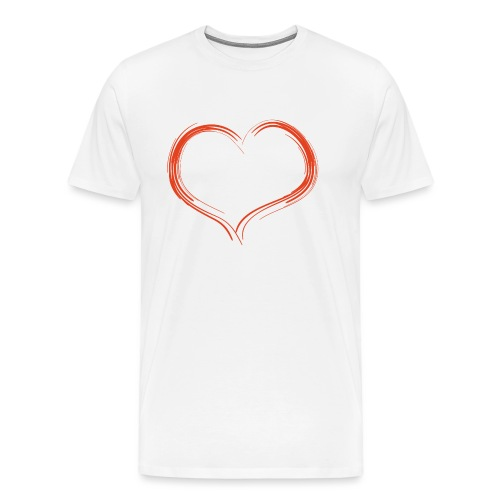 Only Heart Red - Männer Premium T-Shirt