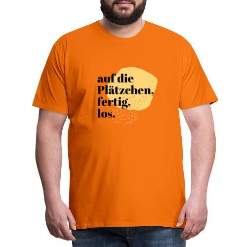 Auf die Plätzchen, fertig, los. Aquarell - Männer Premium T-Shirt
