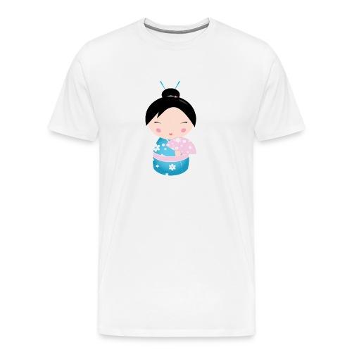 Kokeshi Doll 001 - Mannen Premium T-shirt