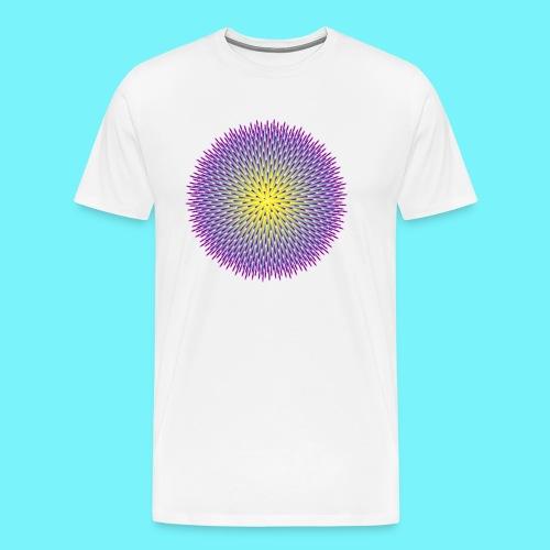 Fibonacci based image with radiating elements - Men's Premium T-Shirt