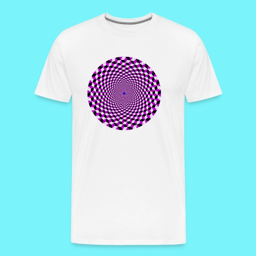 Mandala figure from rhombus shapes - Men's Premium T-Shirt