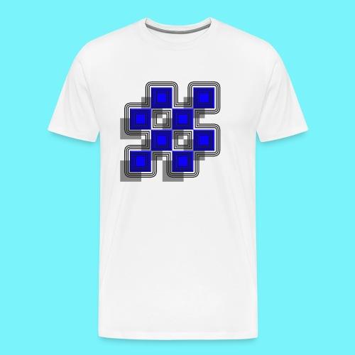 Blue Blocks with shadows and perimeters - Men's Premium T-Shirt