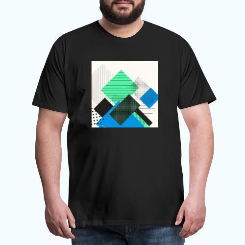 Abstract rectangles pastel - Men's Premium T-Shirt