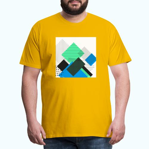 Abstract rectangles pastel - Men's Premium T-Shirt