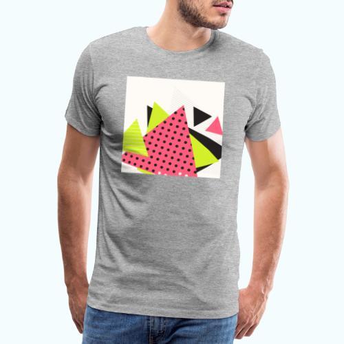 Neon geometry shapes - Men's Premium T-Shirt