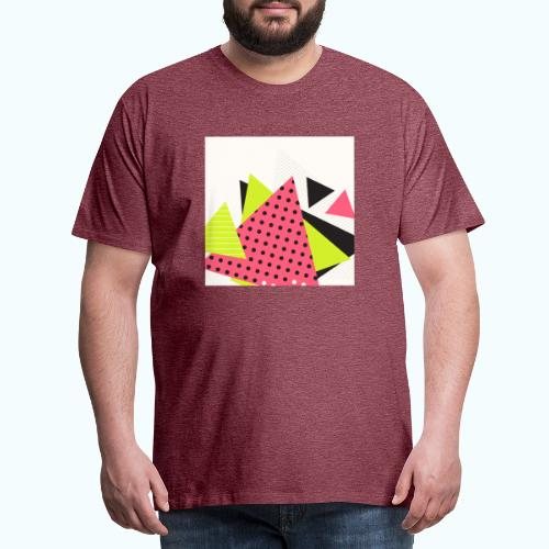 Neon geometry shapes - Men's Premium T-Shirt