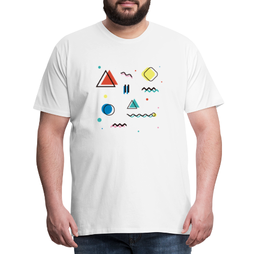 Abstract geometry - Men's Premium T-Shirt