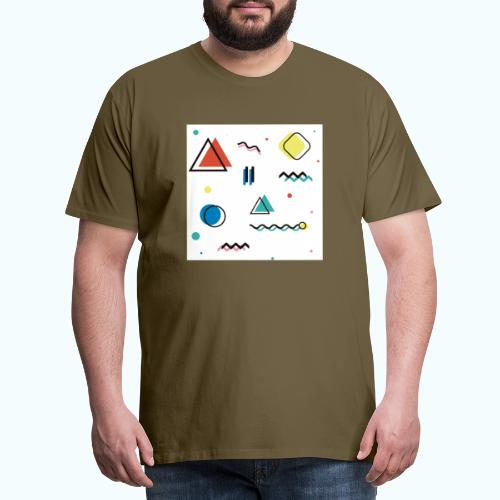 Abstract geometry - Men's Premium T-Shirt