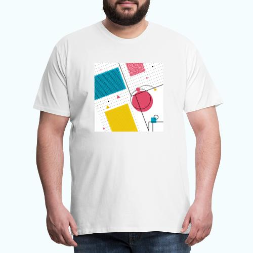 Colors shapes abstract - Men's Premium T-Shirt