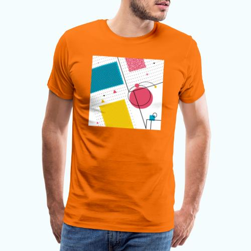 Colors shapes abstract - Men's Premium T-Shirt