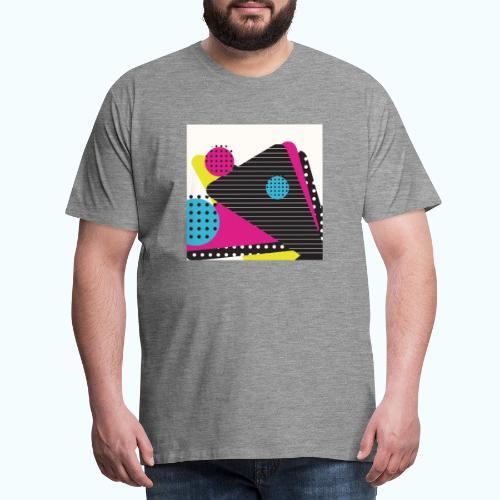 Abstract vintage shapes pink - Men's Premium T-Shirt