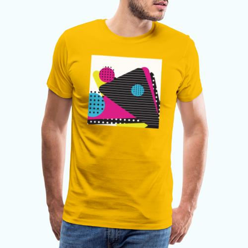 Abstract vintage shapes pink - Men's Premium T-Shirt