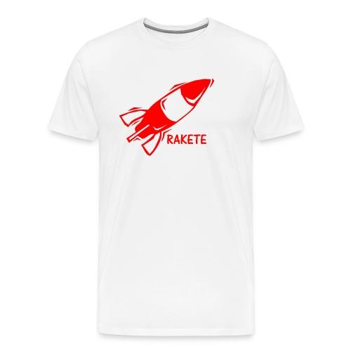 RAKETE Rocket Shirt in Rot - Männer Premium T-Shirt