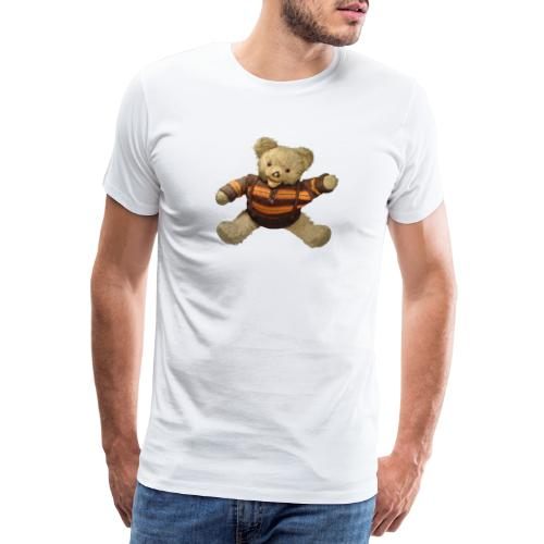 Teddybär - orange braun - Retro Vintage - Bär - Männer Premium T-Shirt