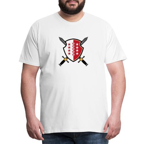Valais avec épées - Männer Premium T-Shirt