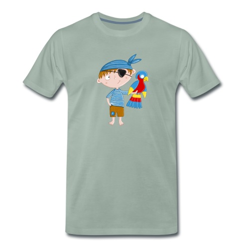 Kleiner Pirat mit Papagei - Männer Premium T-Shirt