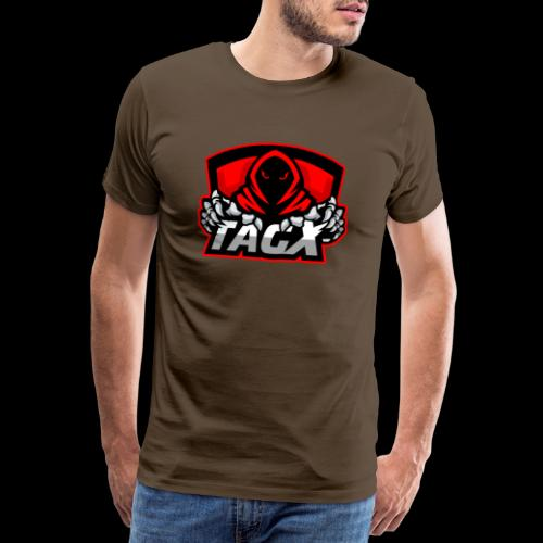 TagX Logo with red borders - Miesten premium t-paita
