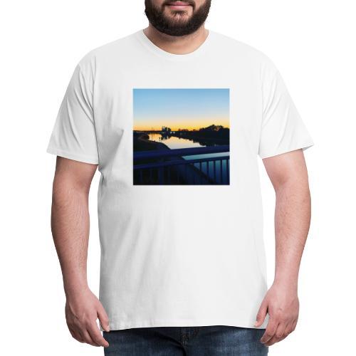 Sonnenuntergang Wasserspiegelung - Männer Premium T-Shirt