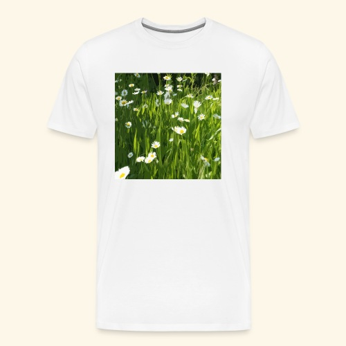 Prato fiorito disegnato - Maglietta Premium da uomo