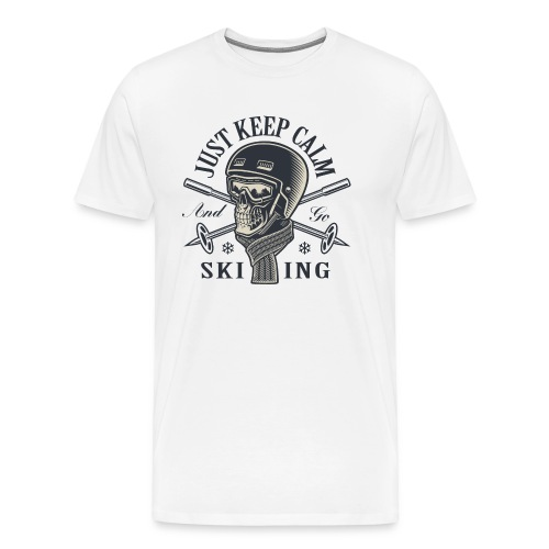 Just Keep Calm and go Skiing - Männer Premium T-Shirt