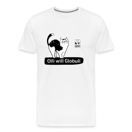 Katze Olli transparent - Männer Premium T-Shirt