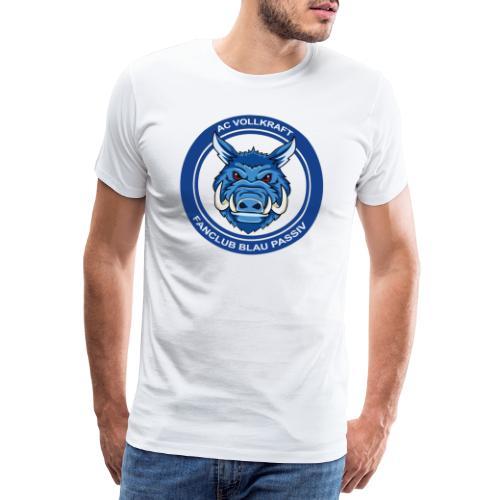 Blau Passiv Fanclub Logo - Männer Premium T-Shirt