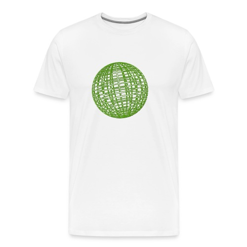 Grüne Kugel - Männer Premium T-Shirt