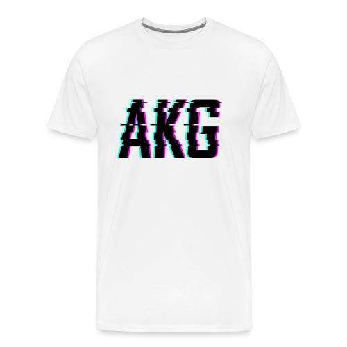 AKG Schwarz Glitched - Männer Premium T-Shirt