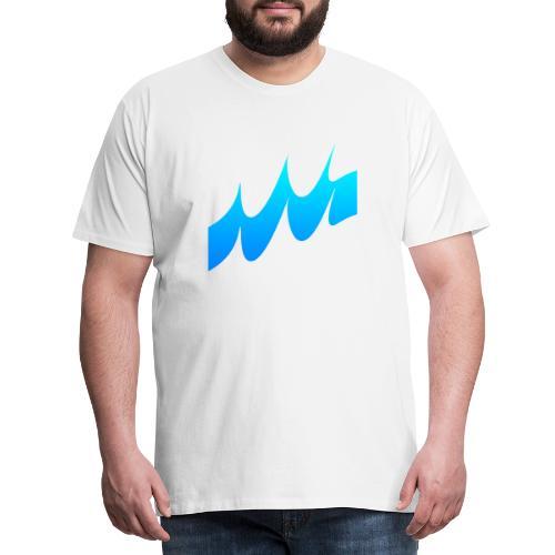 Ocean Waves or just Deep - Men's Premium T-Shirt