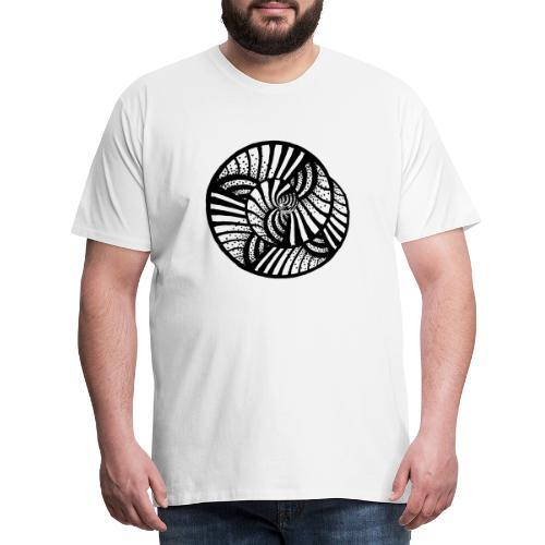 white and black - abstrakt, neutral, handgemalt - Männer Premium T-Shirt