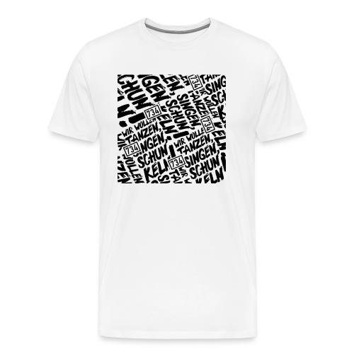 734 Behelfsmaske weiss - Männer Premium T-Shirt