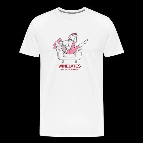 Winelates - my kind of workout - Männer Premium T-Shirt