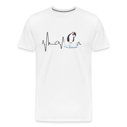 Heartbeat inguin - Männer Premium T-Shirt