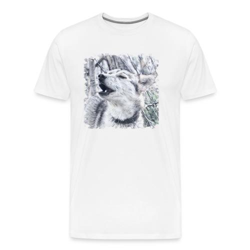 Jaulender Husky - Männer Premium T-Shirt