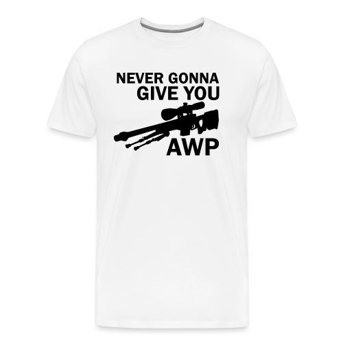 Never gonna give you AWP - Miesten premium t-paita