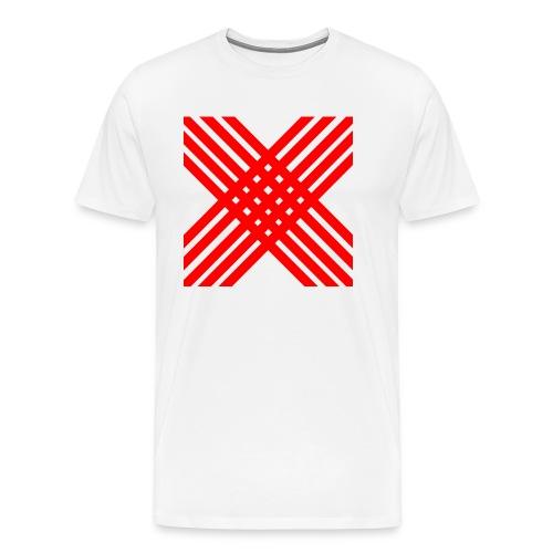 X de rallas - Camiseta premium hombre
