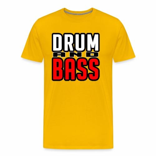 DRUMANDBASS 1 - Mannen Premium T-shirt
