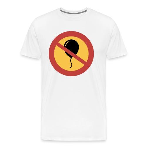 Förbud ballong - Premium-T-shirt herr