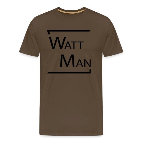 Watt Man - Mannen Premium T-shirt